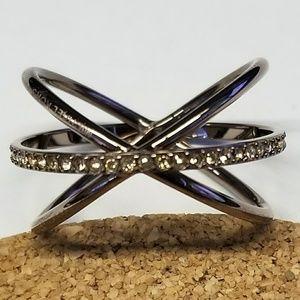 Michael Kors Chocolate Pave Stone Ring